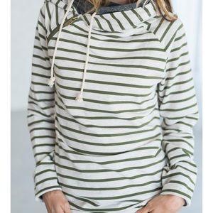 Ampersand ave double hooded sweatshirt